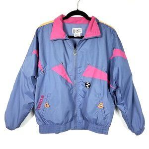 IXSPA Vintage Purple 1980s Windbreaker Jacket